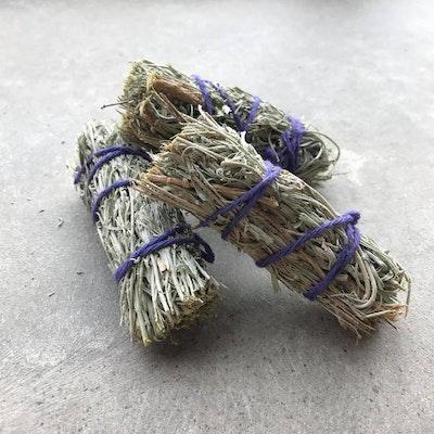 Smudge kit med Palo Santo Blue sage & Ametist