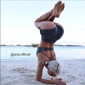Yogashorts Side Tie Black - Dharma Bums