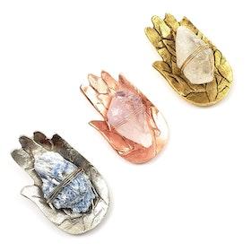 Sound Healing kristall kit Bergskristall Fatimas hand Gold- Ariana Ost