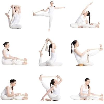 Yogabälte Cotton White - Love Generation