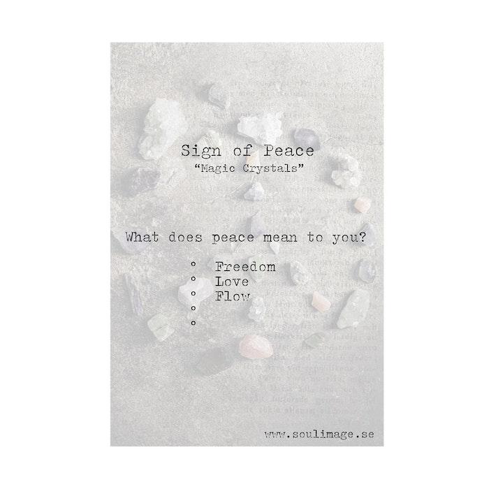 "Fotokonst ""Sign of Peace"" 18x24cm - Soul Image"