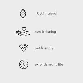 Yogamattrengöring Natural Rubber Mat Restore Gingergrass medium - Manduka