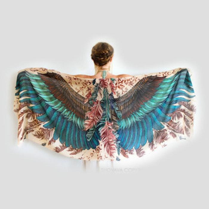 Sjal med vingar från Shovava - Exotic