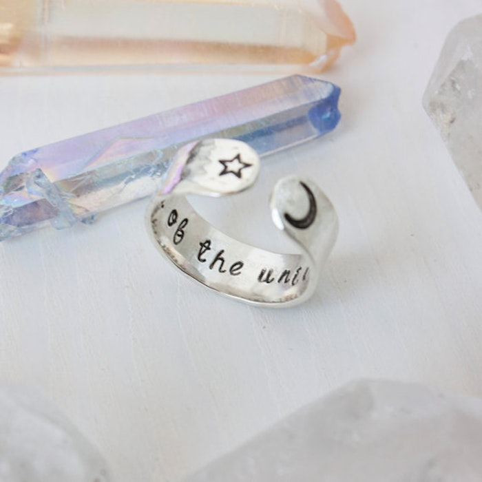 Ring i sterling silver från Zenned Out - Child of the universe