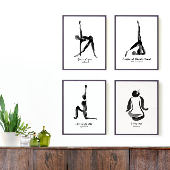 Yoga Print - Lotus Pose