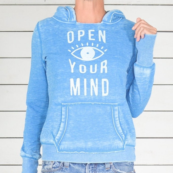 Hoodie Open Your Mind från SuperLove Tees