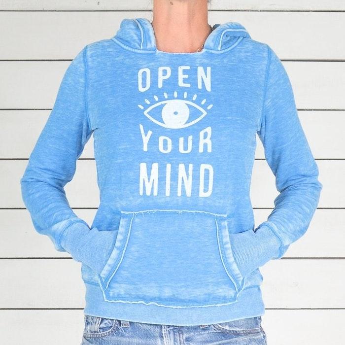Hoodie Open Your Mind från SuperLove Tees