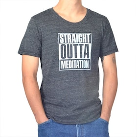 Tröja Man Straight Outta Meditation från SuperLove Tees