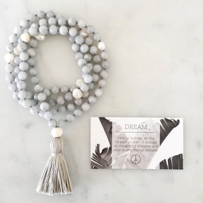 Yogahalsband Malas från The Beautiful Nomad - Dream Grey