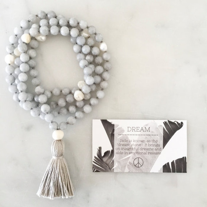 Yogahalsband Malas Dream Grey - The Beautiful Nomad