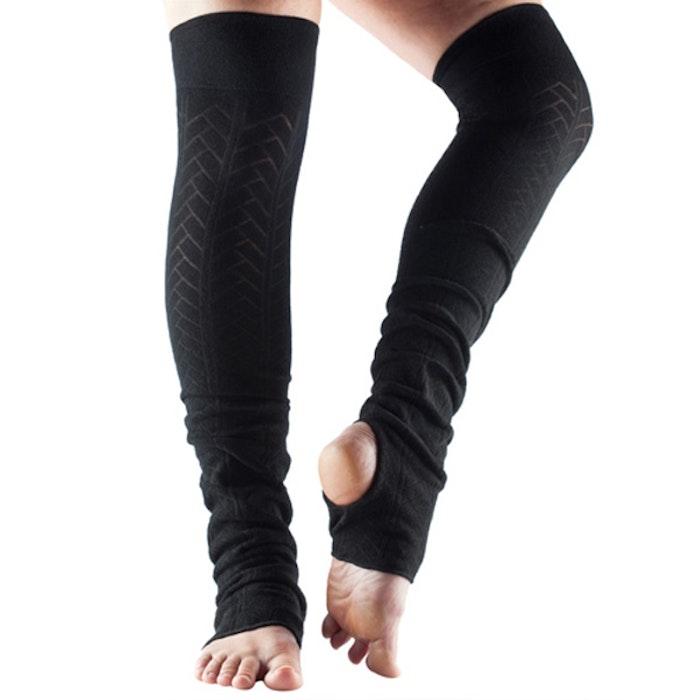 Benvärmare Toesox Open Heel - Black - Yogia - Stort sortiment av ... e025d7843ec2d