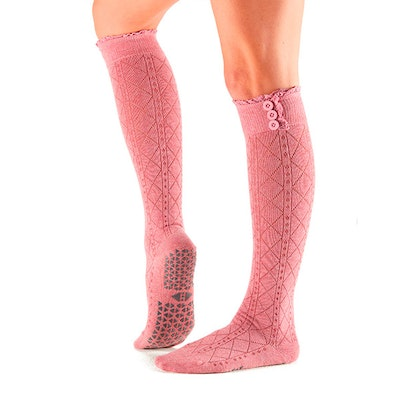 Yogastrumpor Tavi Noir Selah Knee High Grip Socks - Tavi Rose