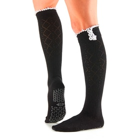 Yogastrumpor Tavi Noir Selah Knee High Grip Socks - Ebony