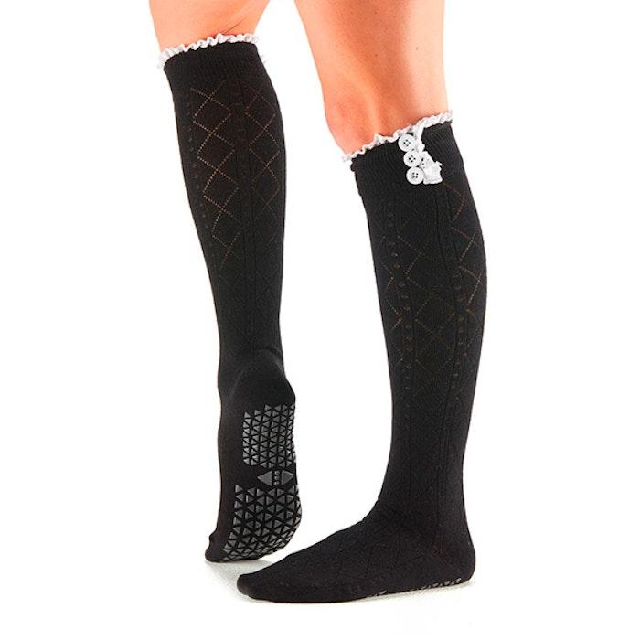 Yogastrumpor Tavi Noir Selah Knee High Grip Socks - Ebony