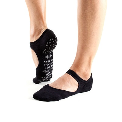 Yogastrumpor Tavi Noir Chey Grip Socks - Ebony