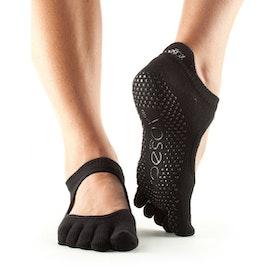 Yogastrumpor Fulltoe Bellarina Grip Black - ToeSox