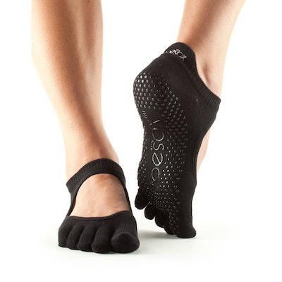 Yogastrumpor Toesox Fulltoe Bellarina grip - Black
