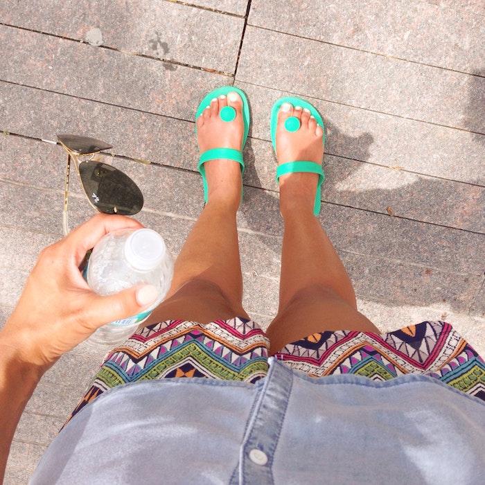 Gurus sandaler - Mint green