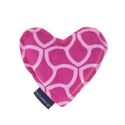 Värme/kyla hjärta från Nytta Design - Rosa mönster