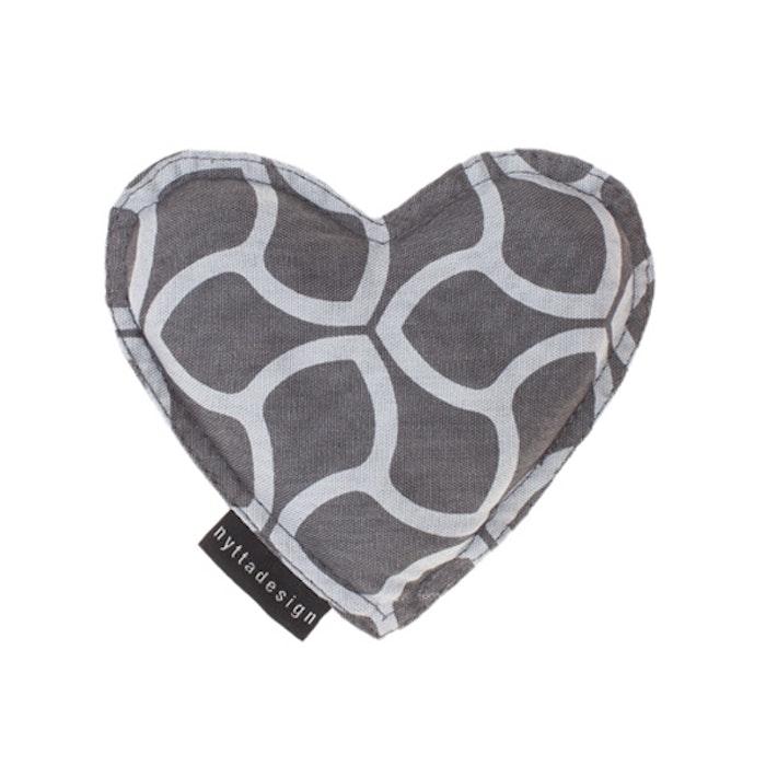 Värme/kyla hjärta från Nytta Design - Grå mönster