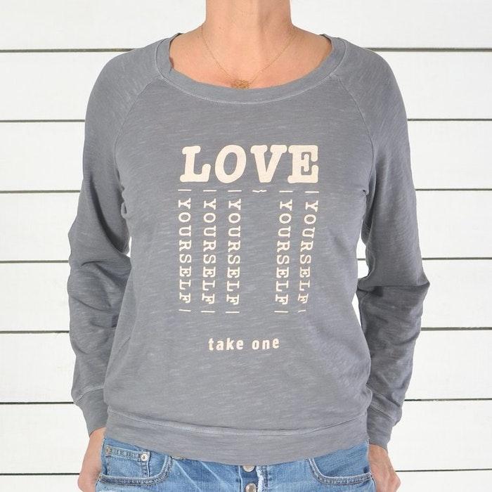 """Långärmad tröja """"Love yourself"""" från SuperLove Tees"""