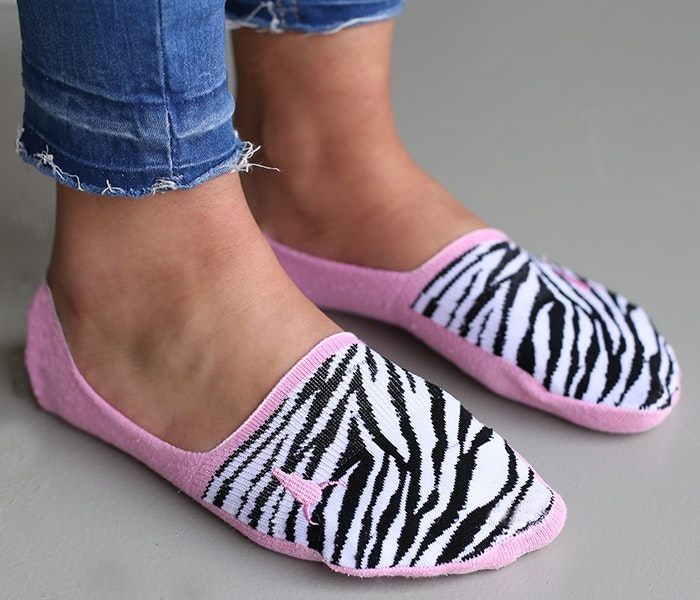 Strumpor/sneackersocks Zebra - Love Ibiza