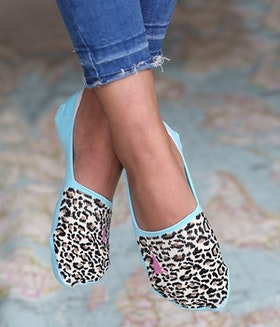 Strumpor/sneackersocks Leopard - Love Ibiza