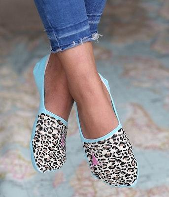 Strumpor/sneackersocks Leopard