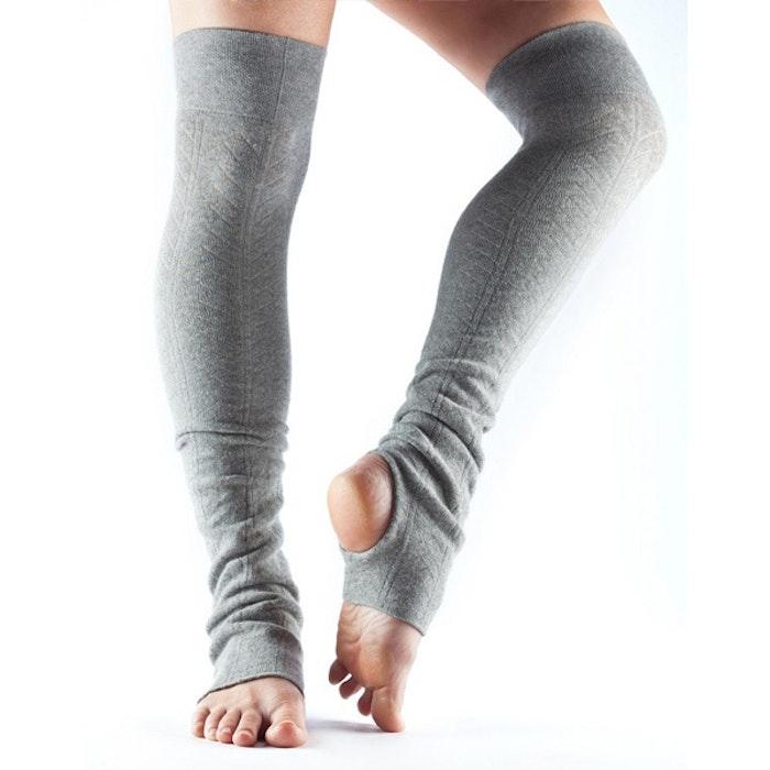 Benvärmare Toesox Open Heel - Heather grey - Yogia - Stort sortiment ... f371b3a191921