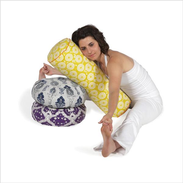 Yogabolster Rund från Chattra - Citron Marigold
