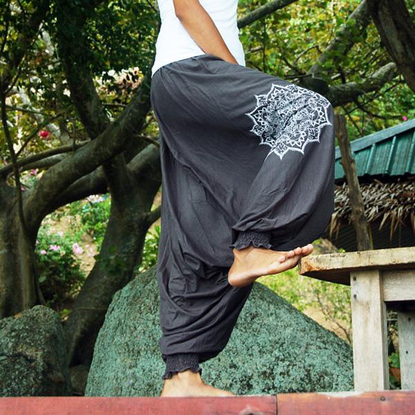 Bohemian Harem Mandala - Grå eller svart