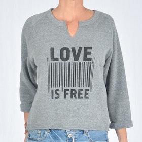 Tröja Love is free 3/4  från SuperLove Tees