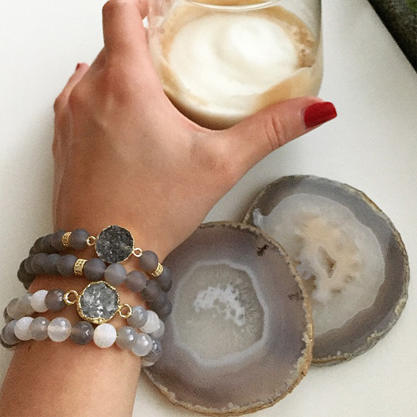 Stenarmband Agate från Nouelle