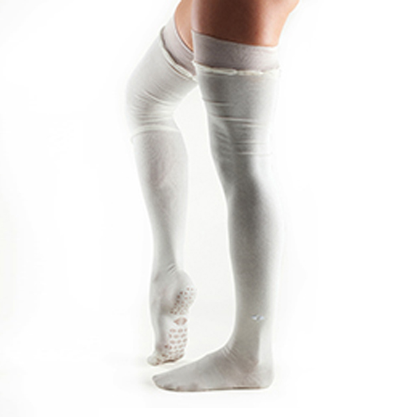 Yogastrumpor Tavi Noir Johnny Over-Knee Grip Socks - Cream