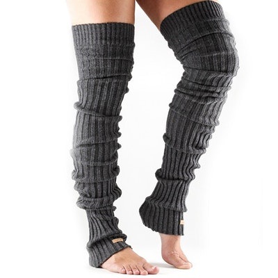 Benvärmare Thigh High Charcoal - ToeSox