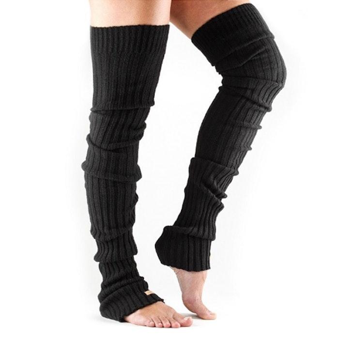 Benvärmare Thigh High Black - ToeSox