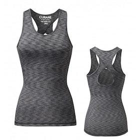 Yogalinne Fancy back från Curare Yogawear- black grey