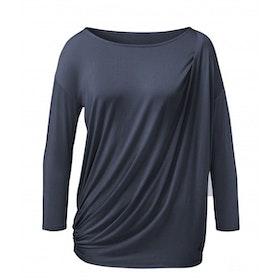 Yogatopp Toga blue Shirt från Curare Yogawear- Midnight blue