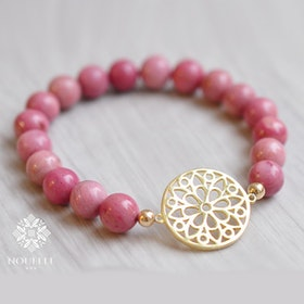 Stenarmband Bloom Rhodonite från Nouelle