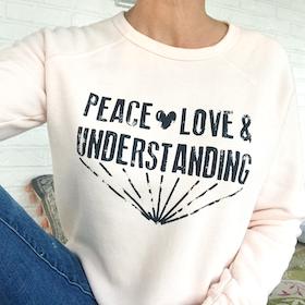 Långärmad Tröja Peace love and understandning från SuperLove Tees