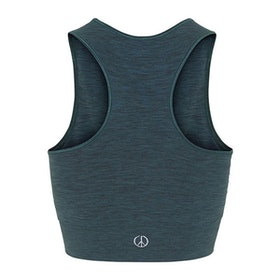 Seamless Crop Top Forest Green - Moonchild Yogawear