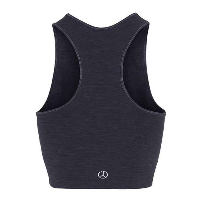 Seamless Crop Top Onyx Black - Moonchild Yogawear