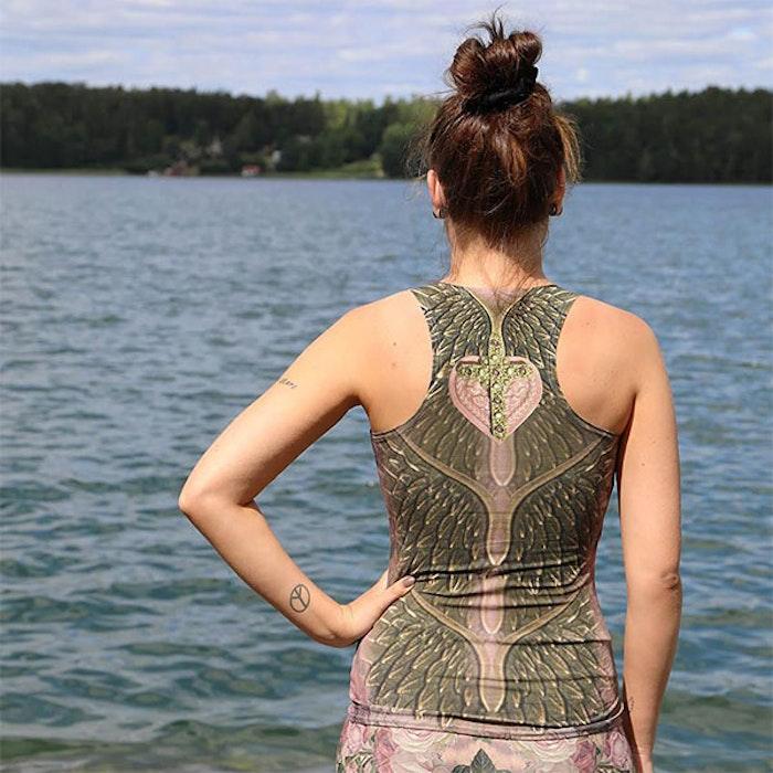 Yogalinne Flaming Sacred Heart från Van Asch