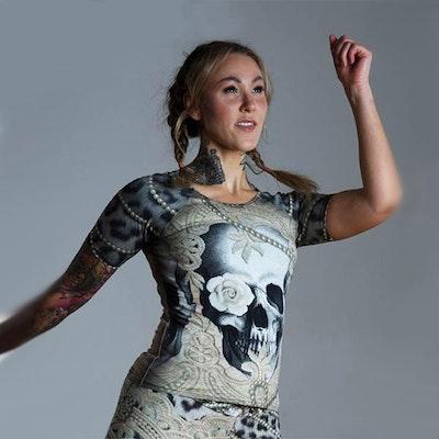 Yogatröja Lace Skull från Van Asch