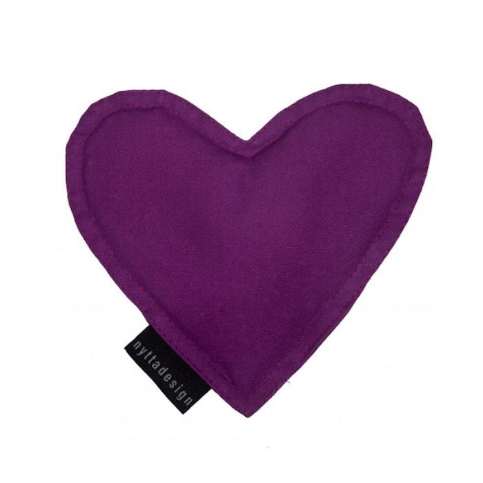 Värme/kyla hjärta från Nytta Design - Purpur