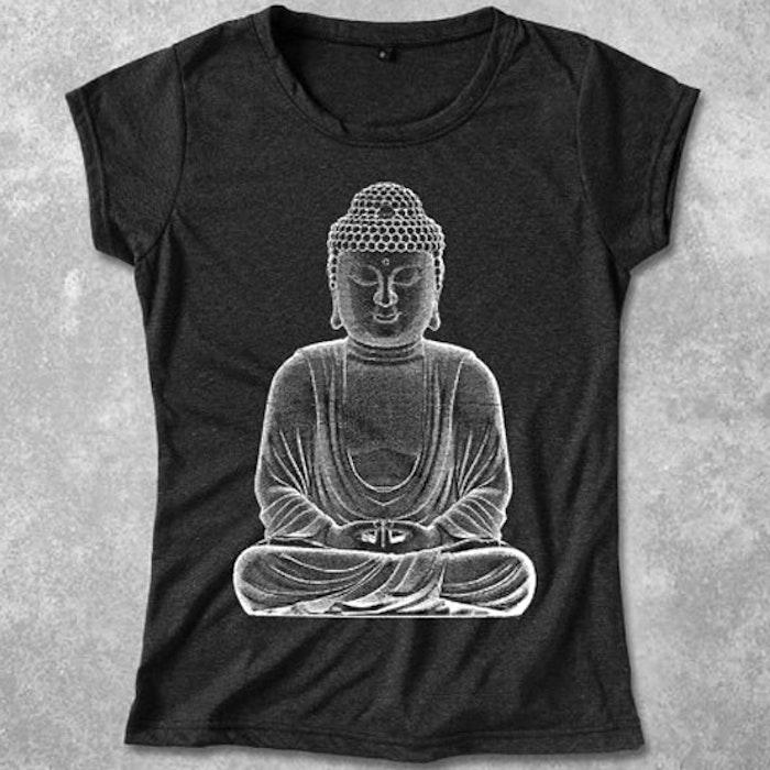 Yogia topp Buddha  - mörkgrå