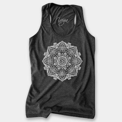 Yogia linne Mandala  - mörkgrå