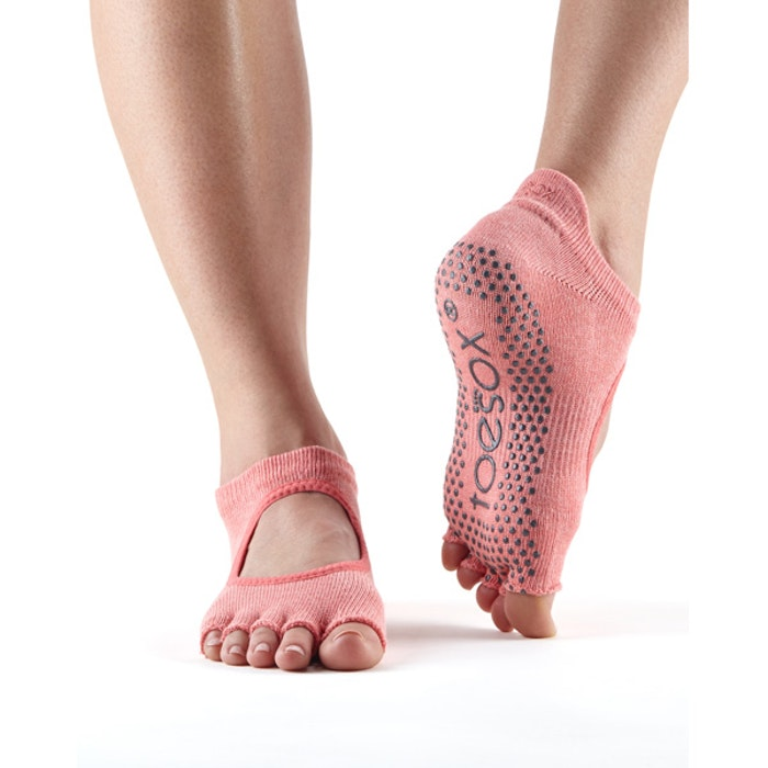 Yogastrumpor Toesox Halftoe Bellarina Grip - Melon