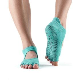 Yogastrumpor Halftoe Bellarina Grip Aqua - Toesox