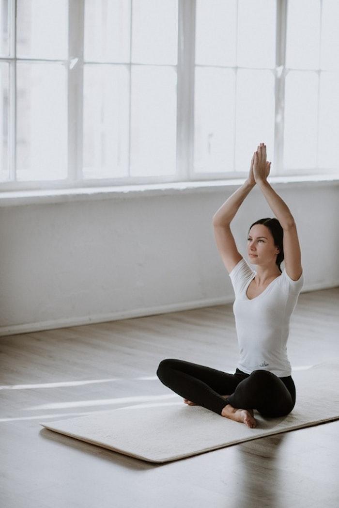 Yogamatta i äkta 100% merino ull inkl. väska